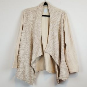 Anthropologie/Sunday terry plus size cardigan